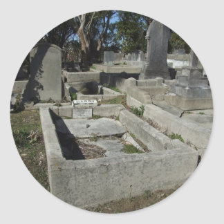 Graveyard Full Of Graves Round Stickers