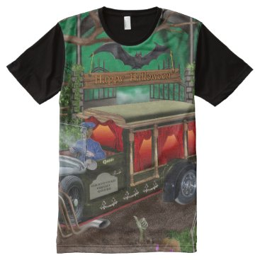 Halloween Themed GRAVEYARD GHOST TOURS All-Over-Print T-Shirt
