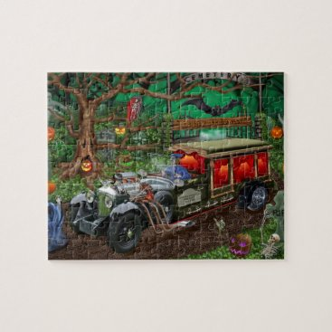 Halloween Themed GRAVEYARD GHOST TOURS JIGSAW PUZZLE