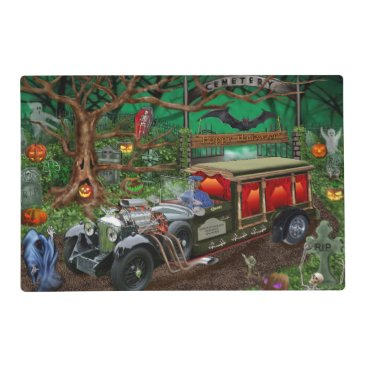 Halloween Themed GRAVEYARD GHOST TOURS PLACEMAT
