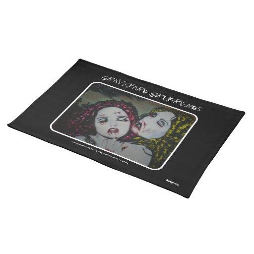 'Graveyard Girlfriends'  American MoJo Placemat Cloth Place Mat