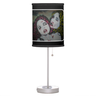 'Graveyard Girlfriends' on a table lamp