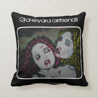 'Graveyard Girlfriends' Zombie (Throw) American Mo Throw Pillow