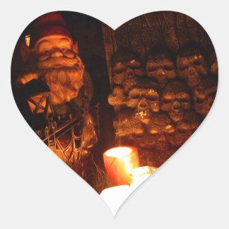 Graveyard Gnome II Heart Stickers