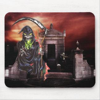 Graveyard Grim Reaper Mouse Pad