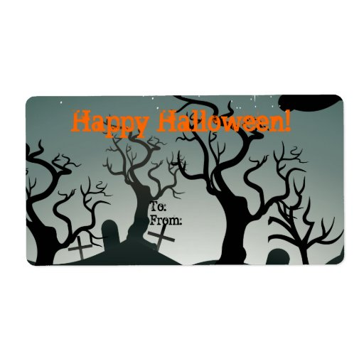 Graveyard Halloween Gift Tag Avery Label