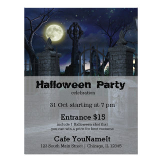 Graveyard Halloween party Flyer