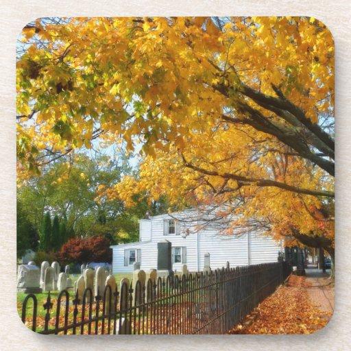 Graveyard in Autumn Coasters