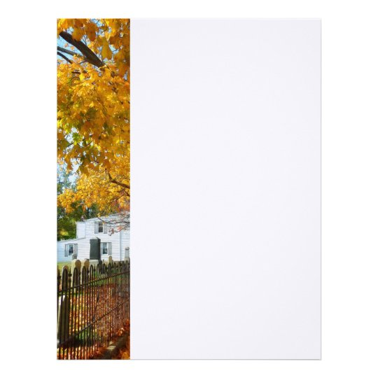 Graveyard in Autumn Letterhead