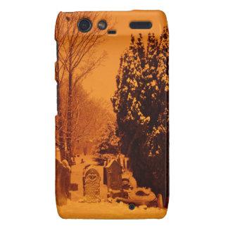 Graveyard in the snow motorola droid RAZR covers