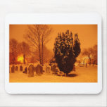 Graveyard in the snow mousepads