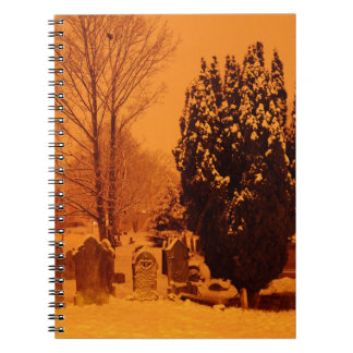 Graveyard in the snow spiral notebooks