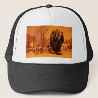 Graveyard in the snow trucker hat