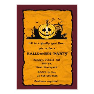 Graveyard Pumpkin -halloween party invitation