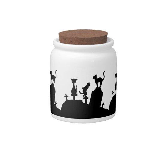 Graveyard Reunion Candy Treat Jar Candy Jar