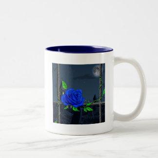 Graveyard Rose Two-Tone Coffee Mug
