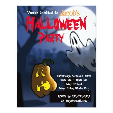 Halloween Themed Graveyard Scare Halloween/Birthday Invite