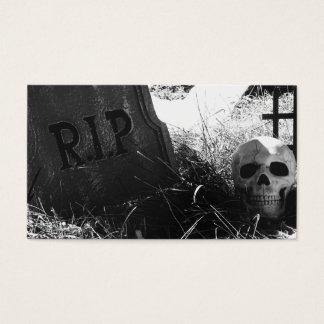 graveyard scene business card