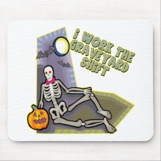 Graveyard Shift Skeleton Mouse Pad