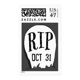 Graveyard Stories Halloween Party Postage