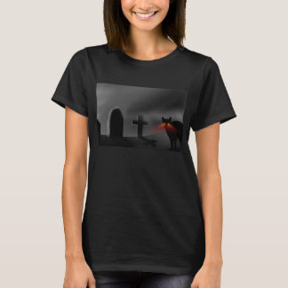 Graveyard with Cat T-Shirt