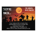 "Graveyard Zombie Halloween Party Invitation 5"" X 7"" Invitation Card"