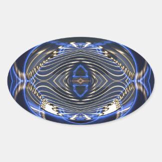 Gravitational Len-zing Oval Sticker