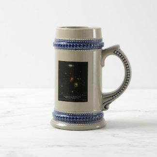 Gravitational Lens Bending Light Beer Stein