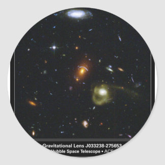 Gravitational Lens Bending Light Classic Round Sticker