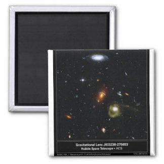 Gravitational Lens Bending Light 2 Inch Square Magnet