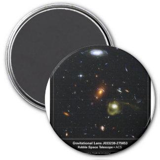 Gravitational Lens Bending Light 3 Inch Round Magnet