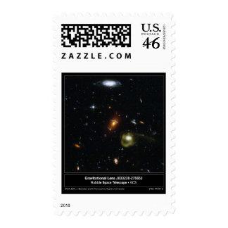 Gravitational Lens Bending Light Postage Stamp