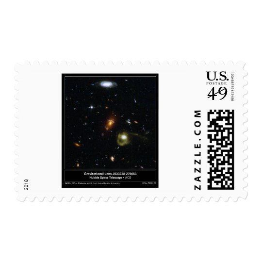 Gravitational Lens Bending Light Stamp