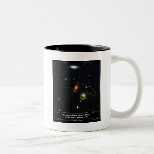 Gravitational Lens Bending Light Two-Tone Coffee Mug