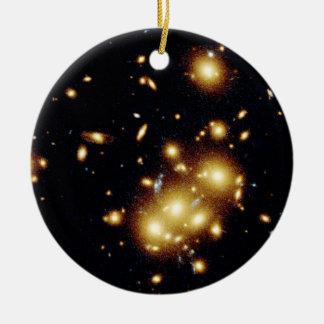 Gravitational Lens Captures Image of Primeval Gala Ornament