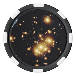 Gravitational Lens Captures Image of Primeval Gala Poker Chips Set