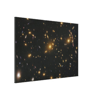 Gravitational Lensing in Galaxy Cluster Abell 370 Canvas Print
