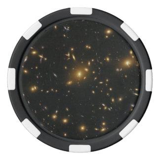 Gravitational Lensing in Galaxy Cluster Abell 370 Poker Chip Set