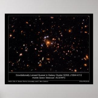 GravitationallyLensedQuasarInGalax Poster