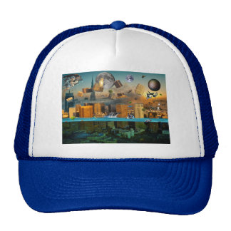 Gravity Confusion City Under Siege Mesh Hat