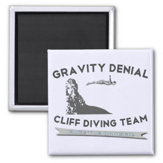 Gravity Denial Cliff Diving Team 2 Inch Square Magnet