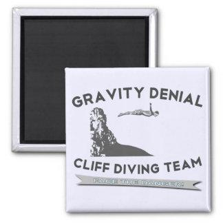 Gravity Denial Cliff Diving Team Fridge Magnets