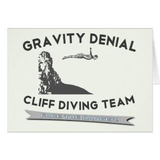 Gravity Denial Cliff Diving Team Greeting Card