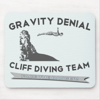 Gravity Denial Cliff Diving Team Mouse Pad