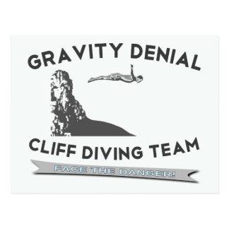Gravity Denial Cliff Diving Team Postcard