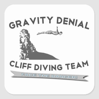 Gravity Denial Cliff Diving Team Stickers