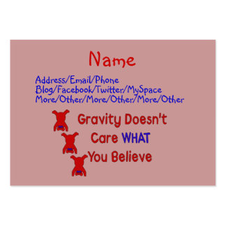Gravity Doesn't Care Large Business Card