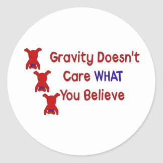 Gravity Doesn't Care Sticker