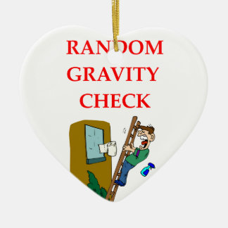 gravity Double-Sided heart ceramic christmas ornament