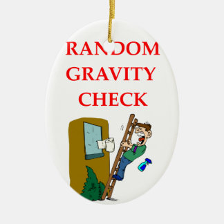gravity Double-Sided oval ceramic christmas ornament